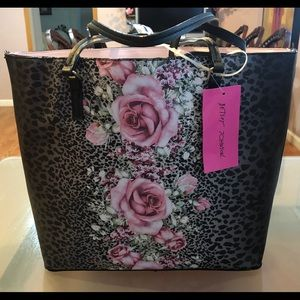 Betsey Johnson Tote Bag with Wristlet
